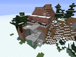 modern winter house Minecraft