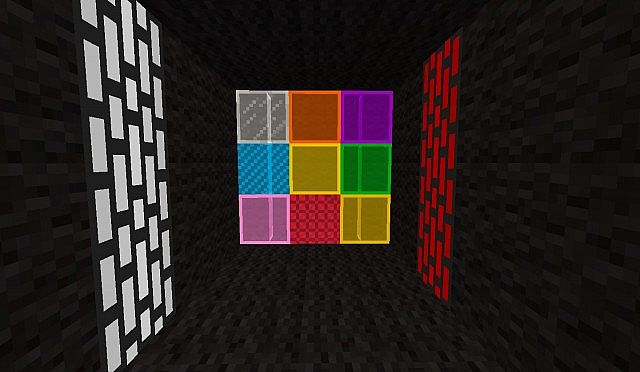 Redstone lamps and new stained glass