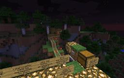 Round the World - MEGA ROLERCOASTER #1 Minecraft