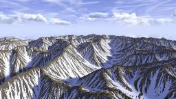 Mountain Range(Test) - Custom Terrain Minecraft Map & Project