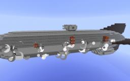 Royal Navy Battleship Airship Minecraft Project