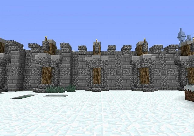 Medieval Wall Design Minecraft Project