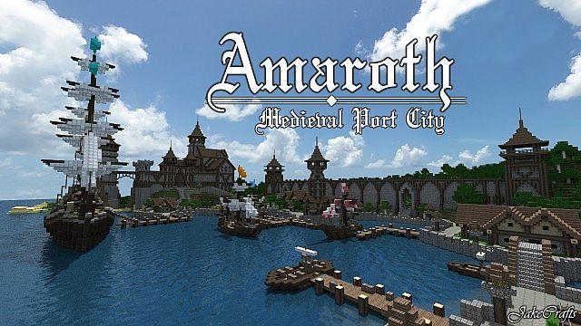 Minecraft Medieval City Download   Amaroth - Medieval P...