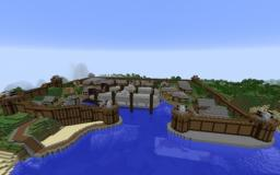 Airship Shipyard - Royal Navy Shipyard at Emerald Bay Minecraft