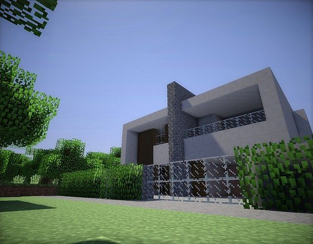 Casa moderna by joel minecraft project for Casa moderna madera minecraft