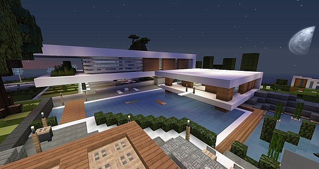 Ultra modern house created for disabled persons minecraft for maison ultra moderne