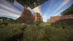 Mesa Savannah Canyons | 2K Custom Terrain Minecraft Map & Project