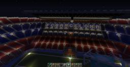 Barcelona Camp nou Stadium Minecraft