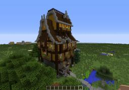 High Medieval House series 1 Minecraft Map & Project