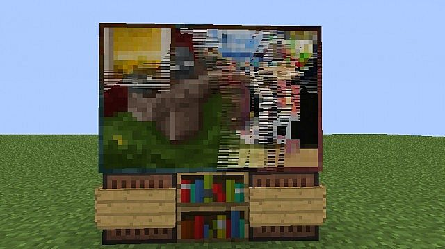 animated working tv no redstone no mods minecraft project