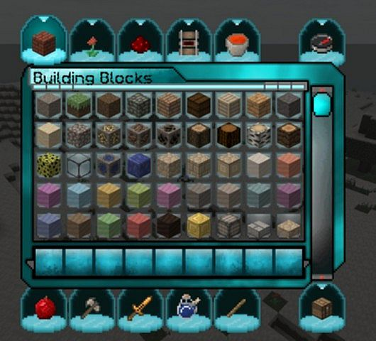 A page from the creative mode inventory.
