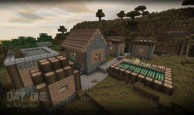 A village in the savanna.