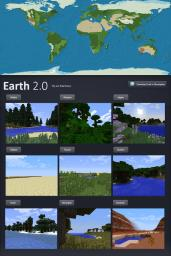 Minecraft Earth with 1.7 biomes Minecraft