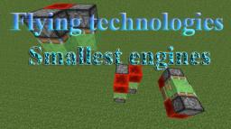 Flying technologies: Smallest engines for all directions Minecraft Map & Project