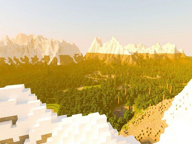 [Map] — Taiga land — Красивая карта с горами и тайгой