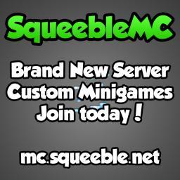 Squeeble Network [Custom Minigames] Minecraft Server