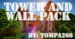 Medieval Towers and Walls Pack (World save & Schematic, 1.7.X) Minecraft Map & Project
