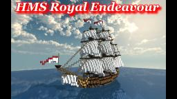 British 3rd Rate Ship of The Line: HMS Royal Endeavour Minecraft