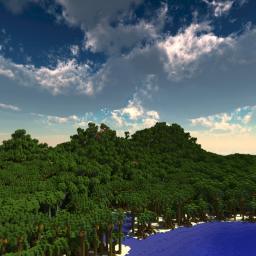 Tropic Island || Custom Terrain Minecraft Map & Project