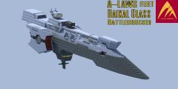 GUNDAM OO : A-LAWS Fleet : BAIKAL class battle cruiser Minecraft Map & Project