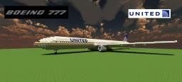 Boeing 777-200 United Airlines Minecraft Map & Project