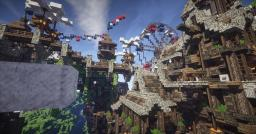 'Above The Clouds' A Tilt Shift Cinematic of Cielo V2 #weareconquest Minecraft