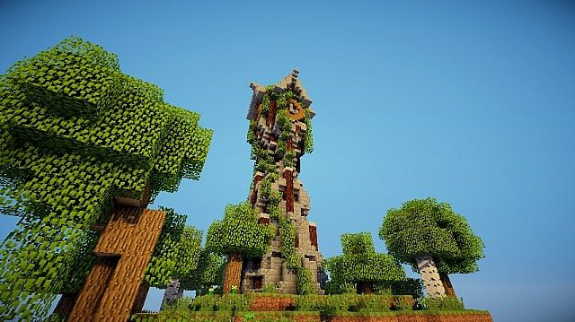Medieval Clock Tower Minecraft Project