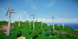 Modern Eco Village | Wind Turbines Minecraft Map & Project