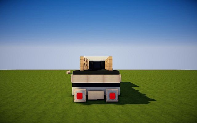 how to make a pickup truck in minecraft