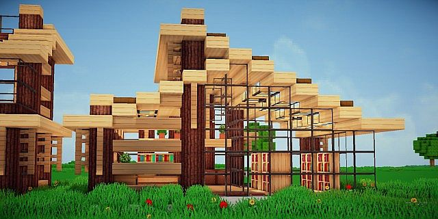 Modern eco village store 4 book store minecraft project for Craft com online shopping