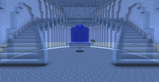 Minecraft Castle Staircase : Updated elsa frozen ice castle minecraft project