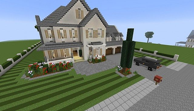 Traditional Suburban Home Download Minecraft Project