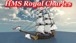 British Flagship: HMS Royal Charles Minecraft Map & Project
