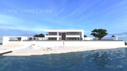 Coral Island Estate - Contemporary Beach House [WoK] Minecraft Project