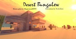 Simplistic Desert Bungalow [For House Plan Challenge] Minecraft