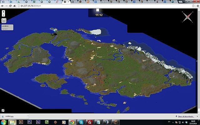 Dragon Ball Z World Map. Dynmap View