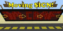 Moving/fast/editable Sign ! Minecraft Map & Project
