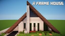 Minecraft: Lets Build A-Frame House Minecraft Map & Project