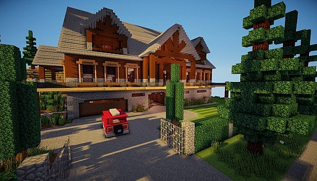 Luxurious Mountain Cabin Download Minecraft Project
