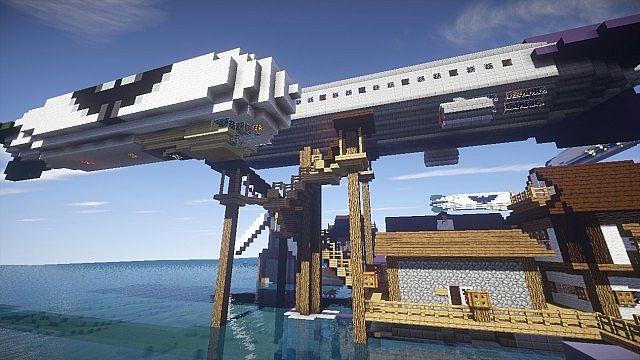 Merchant ship unloading cargo