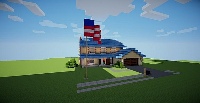 Americandad House Minecraft Project