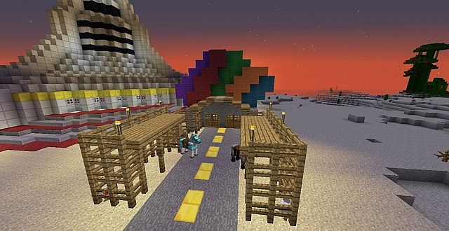 New Vegas Strip Minecraft Project on