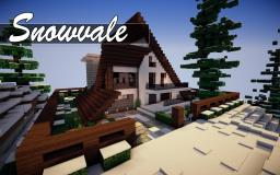 Snowvale Modern A-Frame House Minecraft Map & Project