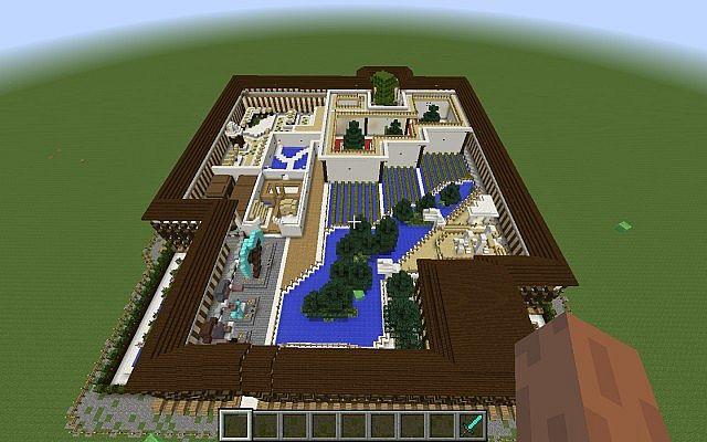 Карта красивого дома в майнкрафт