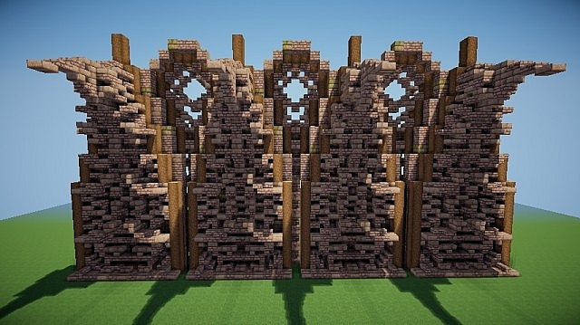 Medieval/Nordic Wall Design Minecraft Project