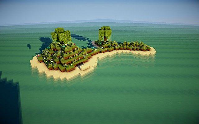 Карта пушистые острова для майнкрафт