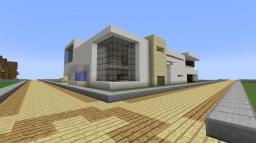 ModernHouse With Basement Cinema Minecraft Map & Project