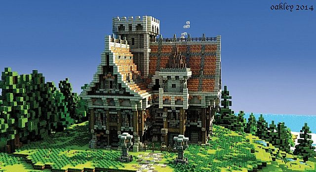 how to build a medieval mansion in minecraft