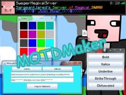 Minecraft MOTDMaker Minecraft Mod