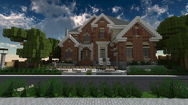 New american style home minecraft project for New american house style